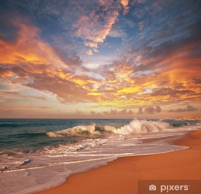 Plakat w ramie Morze zachód słońca - Tematy