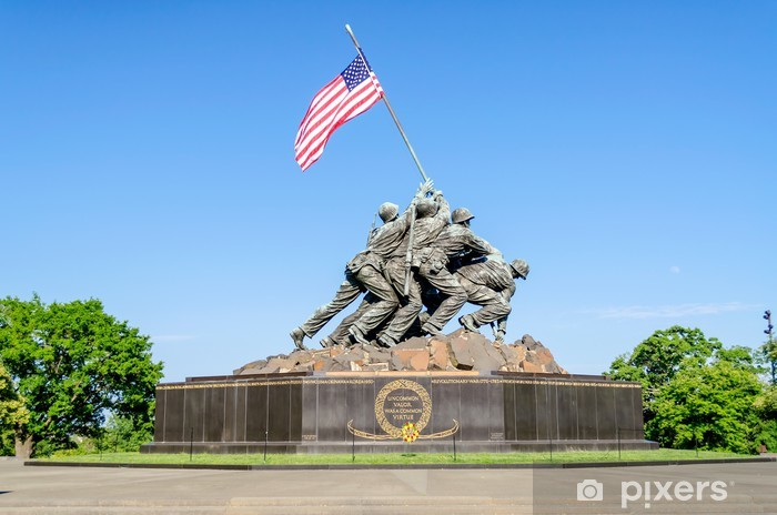 Naklejka Pixerstick Marine Corps War Memorial (Iwo Jima Memorial) - Miasta amerykańskie