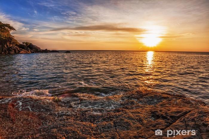 Nálepka Pixerstick Tropická pláž při západu slunce - Nebe