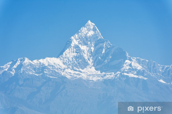 Vinilo Pixerstick Montaña Machapuchare, Pokhara, Nepal - Temas