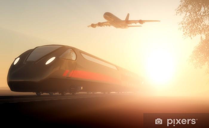 Naklejka Pixerstick Pociąg i samolot - Tematy