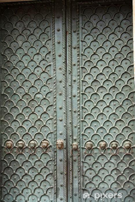 Nálepka Pixerstick Benátky - dveře z bronzu do katedrály svatého Marka - Evropská města