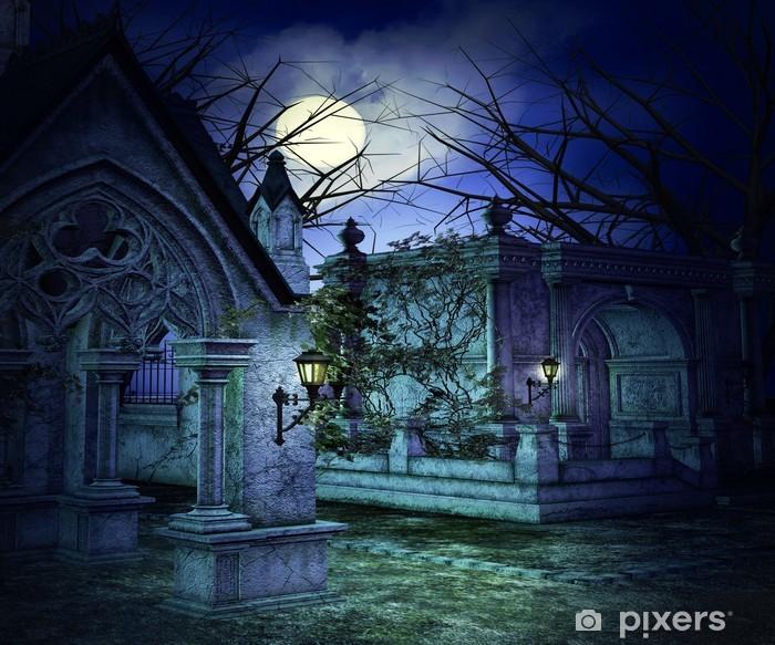 Fototapeta winylowa Straszny Tło Graveyard - Tematy