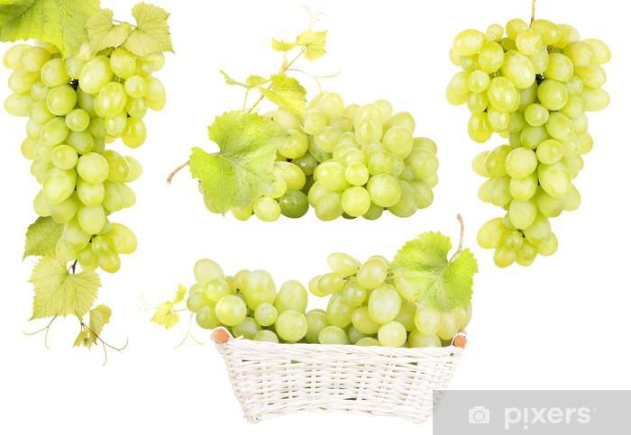 Fototapeta winylowa Białych winogron, samodzielnie - Owoce