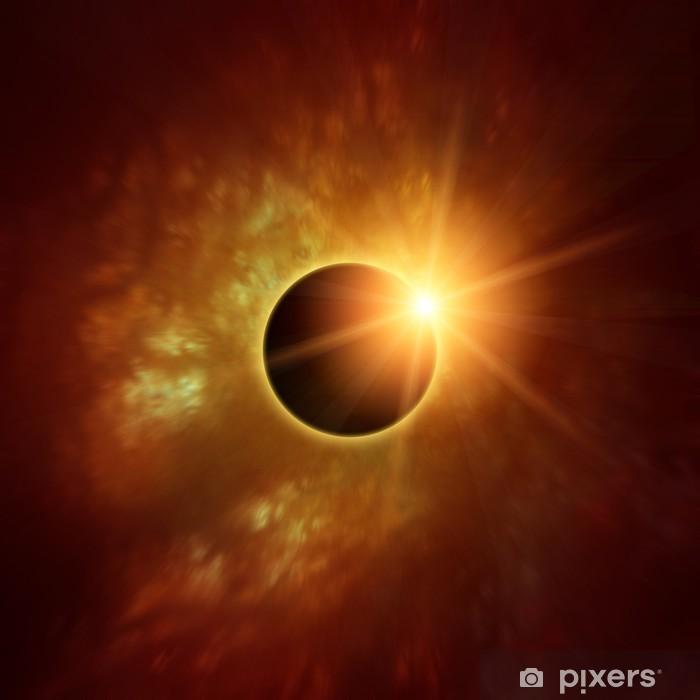 Plakat Zaćmienie Słońca - Przestrzeń kosmiczna