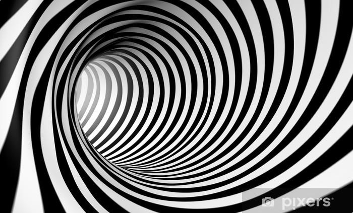 Fondo espiral abstracta 3d en blanco y negro Vinyl Wall Mural - Styles