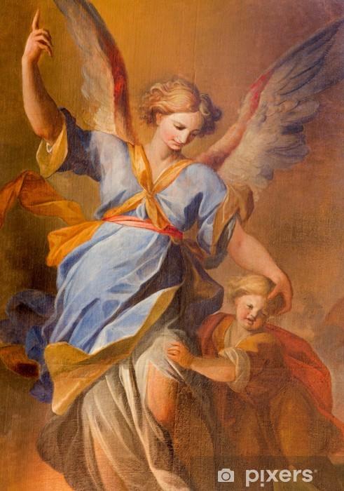 Sticker Pixerstick Vienne - la douleur d'ange gardien à l'église des Jésuites baroque - Thèmes