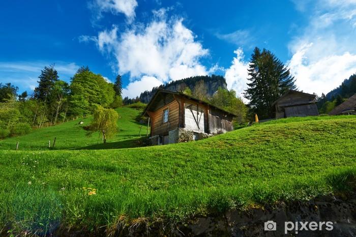 Sticker pour table Lack Chalet suisse à Alpes - Europe