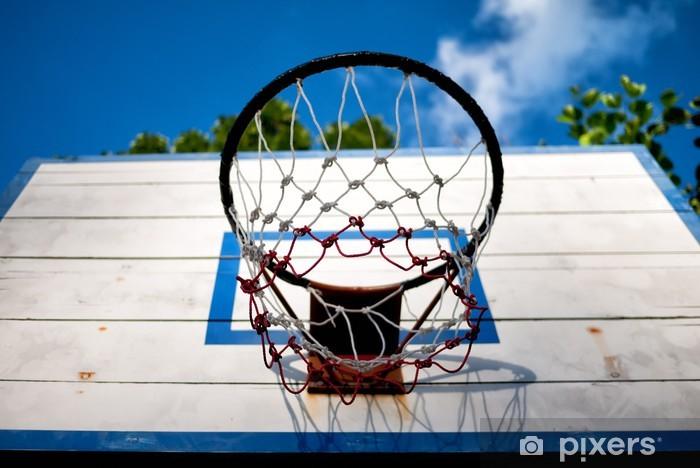 Sticker Pixerstick Vieux panneau de basket-ball - Sports collectifs