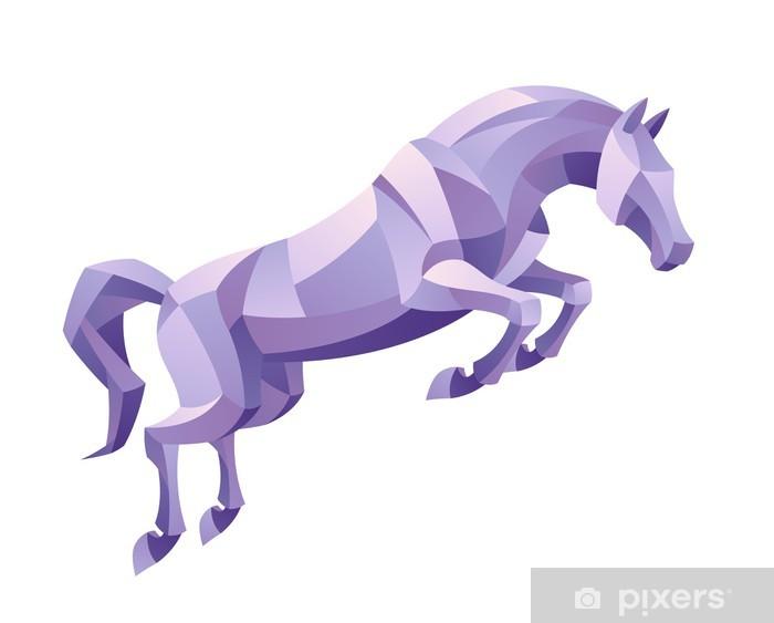 Fototapeta winylowa Skaczący koń - Naklejki na ścianę