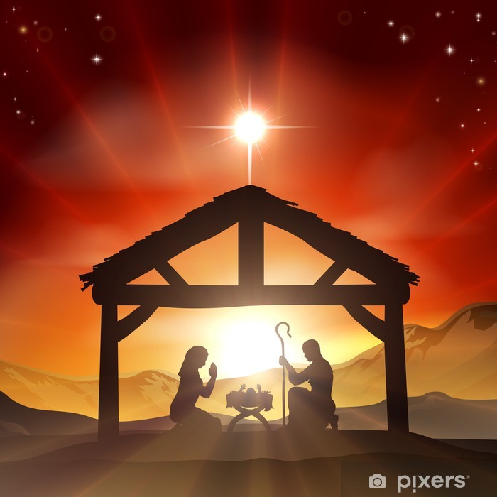Nativity Christian Christmas Scene Poster - Culture and Religion