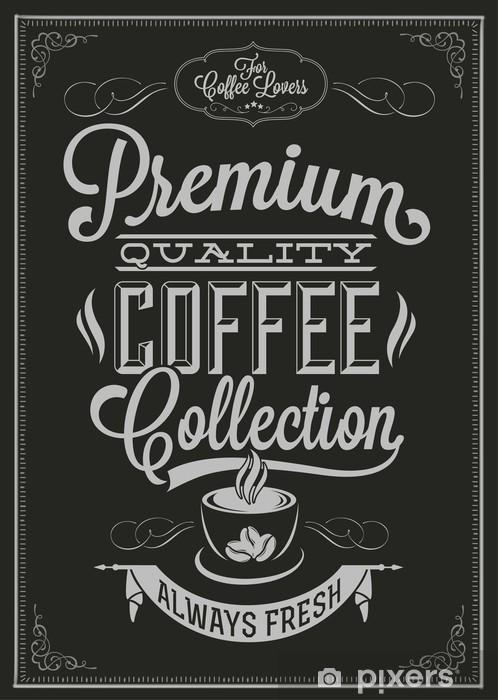 Sticker Pixerstick Café Typographie Contexte Le Tableau noir - Styles