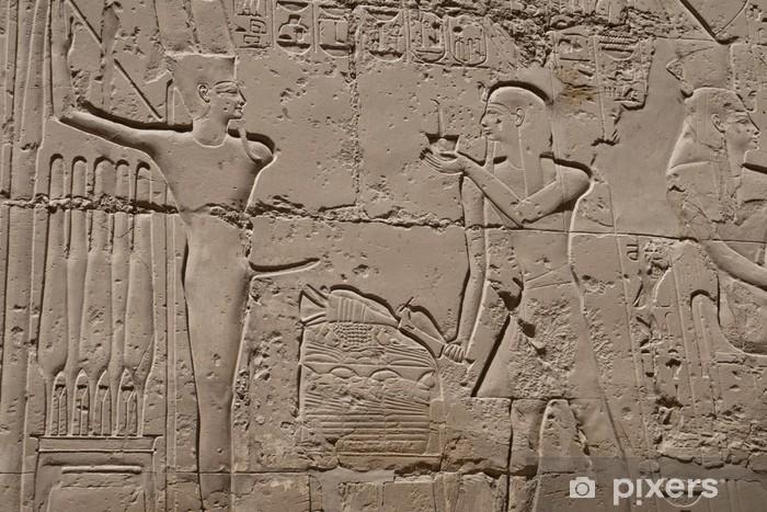 Papier peint vinyle Hiéroglyphes de Louxor en Egypte - Monuments