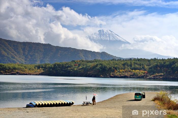 Sticker pour table et bureau fuji et le lac saiko au japon u2022 pixers