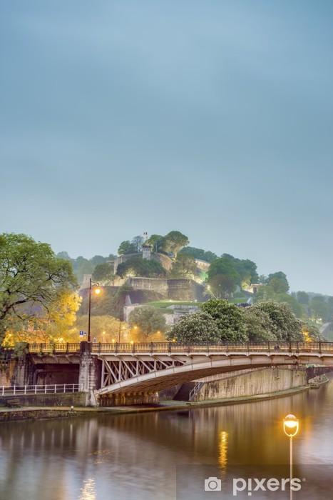 Papier peint vinyle Citadelle de Namur, Région Wallonne, Belgique - Europe