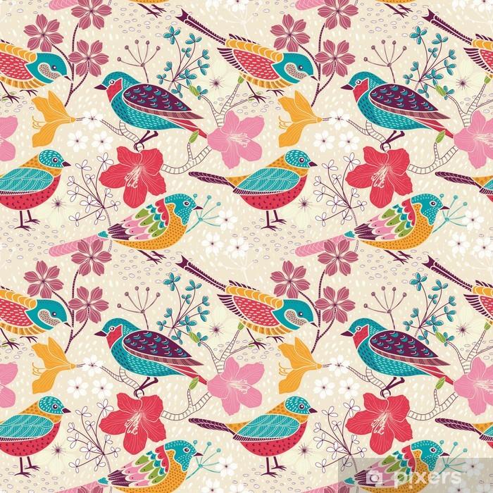 Carta da Parati in Vinile Seamless pattern floreale - Temi