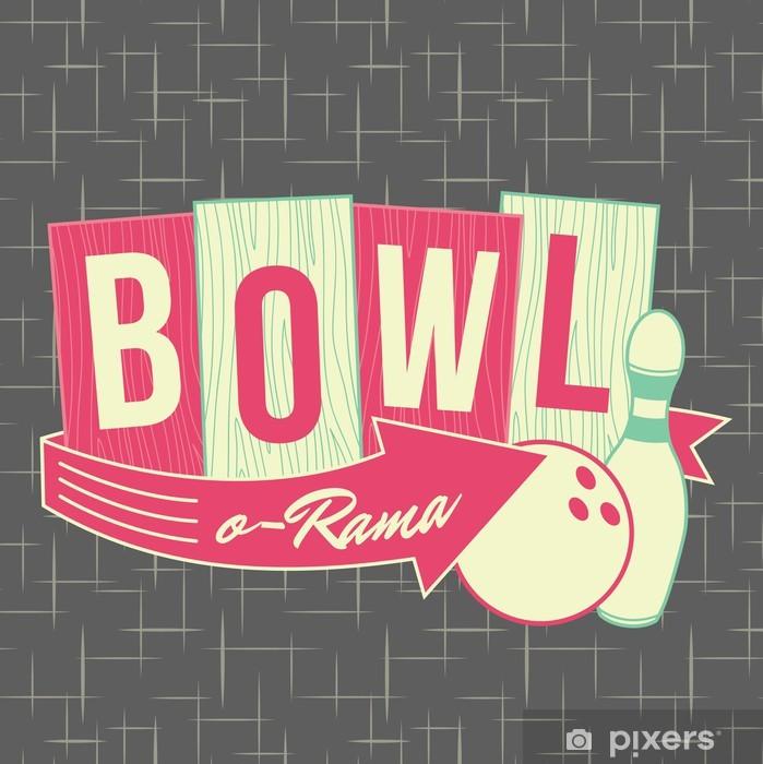 Poster 1950er Jahre Stil Bowling Logo Design - Fashion