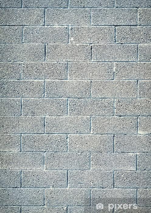 Fototapeta winylowa Biały blok żużel wall, brick texture - Tekstury