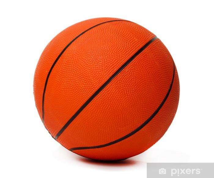 Adesivo Palla Da Basket Isolato Su Bianco Pixers Viviamo Per Il