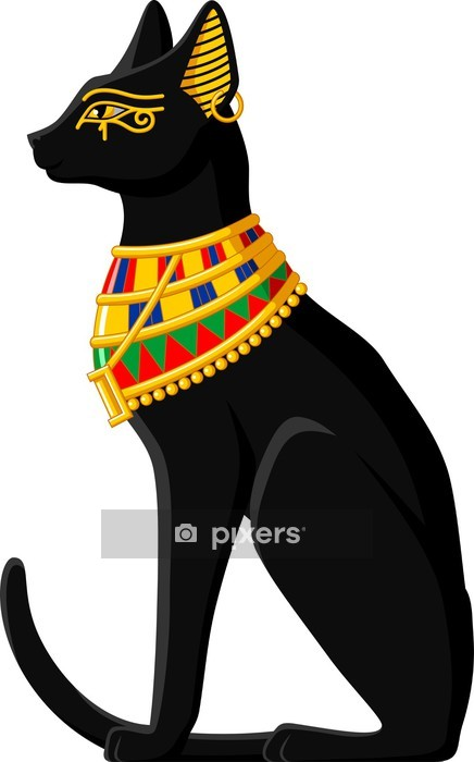 Egyptian Cat Wall Decal - Africa