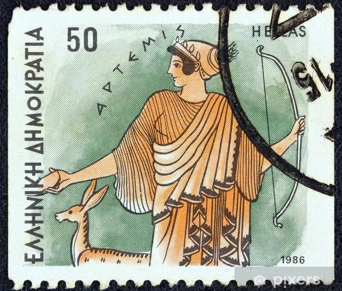 Sticker Pixerstick Déesse Artémis (Grèce, 1986) - Art et création