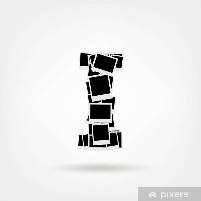 Poster Buchstabe I von Bilderrahmen aus, legen Sie Ihre Fotos - Zeit