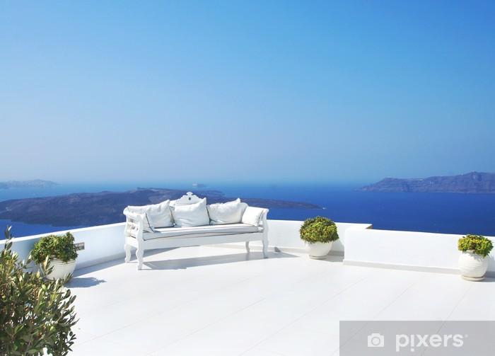Fototapeta winylowa Piękne dekoracje ślubne na wyspie Santorini - Tematy