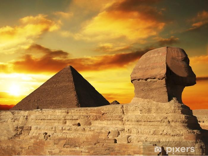 Naklejka Pixerstick Piramida - Afryka