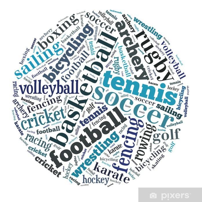Plakat Chmura słowo Sports - Sporty wodne
