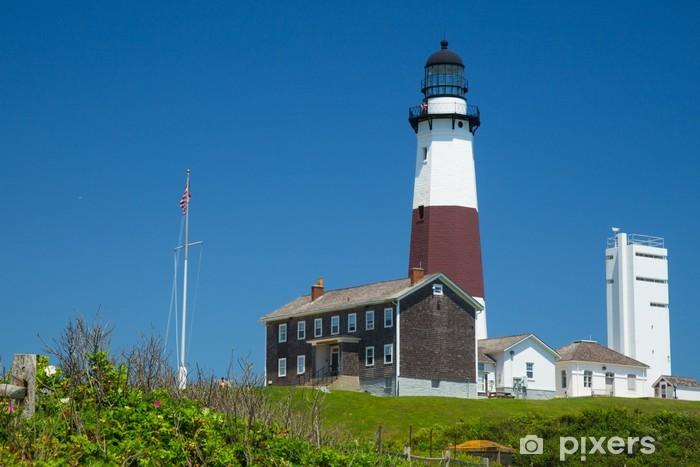 Historic Montauk Lighthouse, Long Island New York Pixerstick Sticker - America