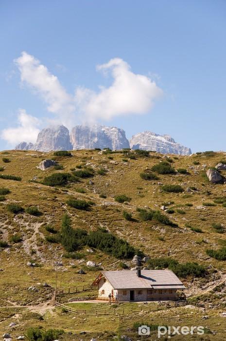 Naklejka Pixerstick Refuge - Long Alpy - Dolomity - Alpy - Europa