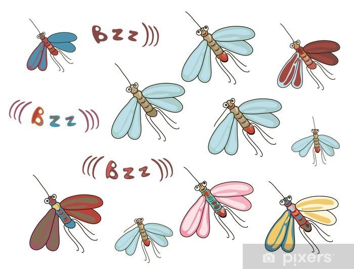 Naklejka Pixerstick Zbiór zabawnych kreskówek komary - Tła