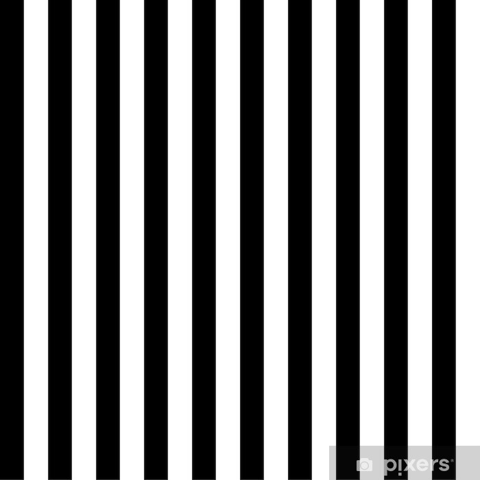 Black and White Striped Background Vinyl Wall Mural - Other objects