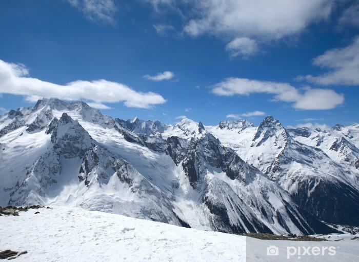 Sticker Pixerstick Belles hautes montagnes du Caucase - Sports d'hiver