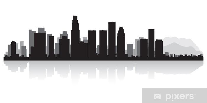 fototapete los angeles skyline der stadt-silhouette • pixers® - wir leben,  um zu verändern  pixers