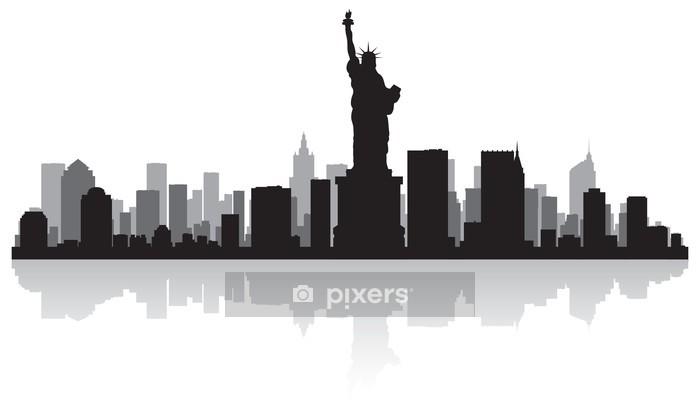 Vinilo para Pared New York City Skyline Silhouette - Vinilo para pared