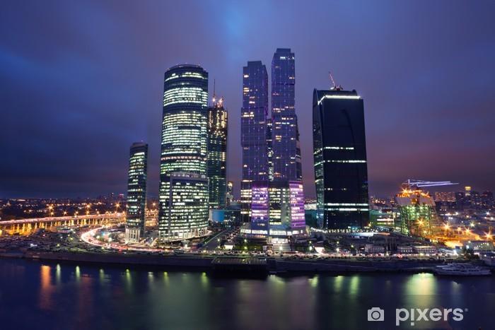 Papier peint vinyle Paysage de gratte-ciel de Moscou - Villes d'Asie