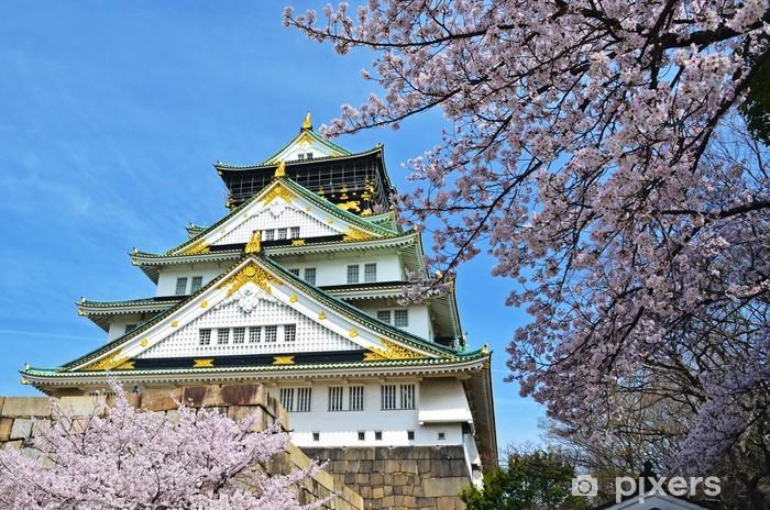 Osaka castle Pixerstick Sticker - Asia