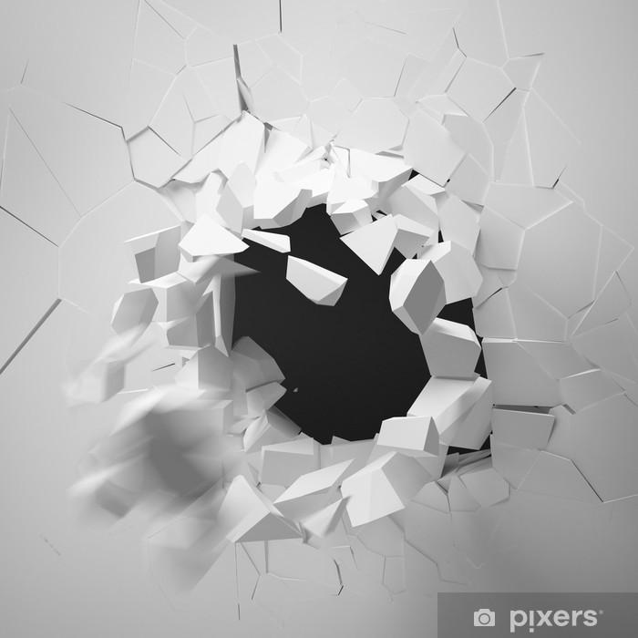 Papier peint vinyle Mur cassé - Vie