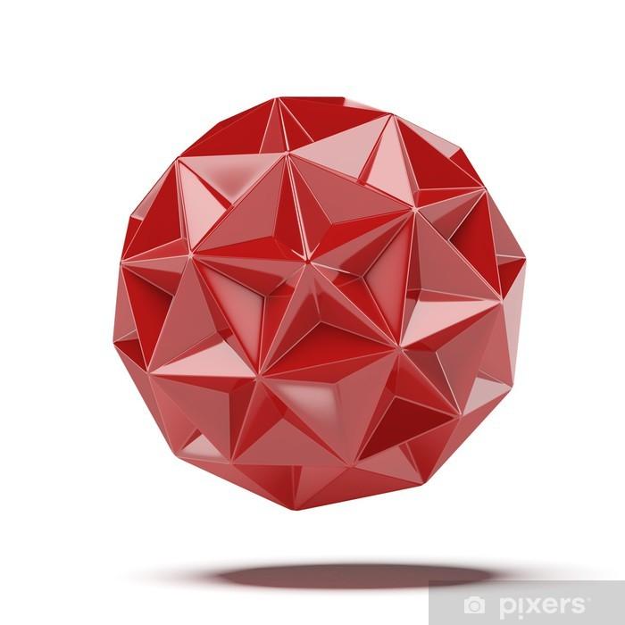 Papier peint vinyle Résumé géosphère rouge - Concepts