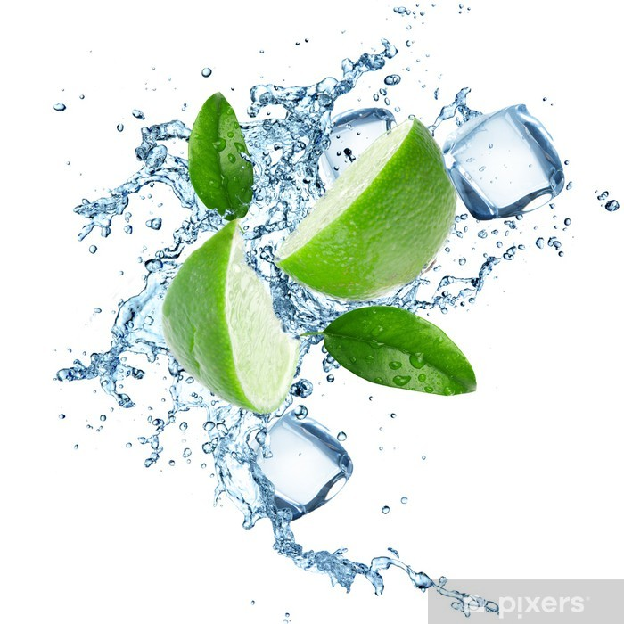Limes and Splashing water Pixerstick Sticker - Wall decals