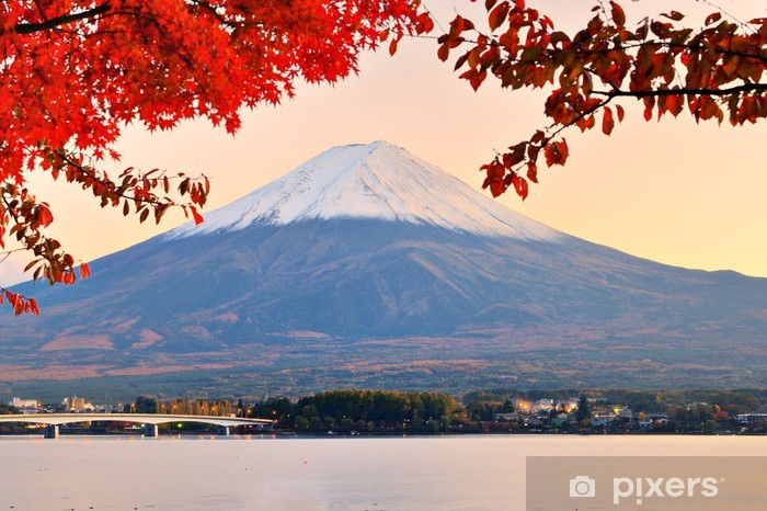 Sticker Pixerstick Mt. Fuji à l'automne - Thèmes