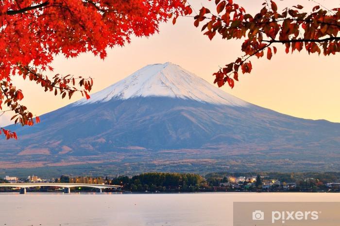 Mt. Fuji in Autumn Pixerstick Sticker - Themes