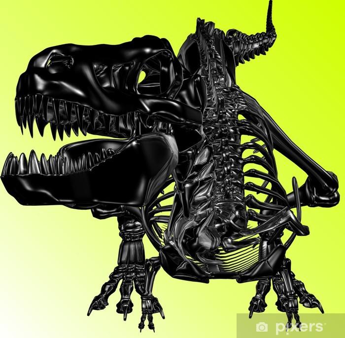 Plakát Schwarzer Drache (Skelett) - Imaginární zvířata