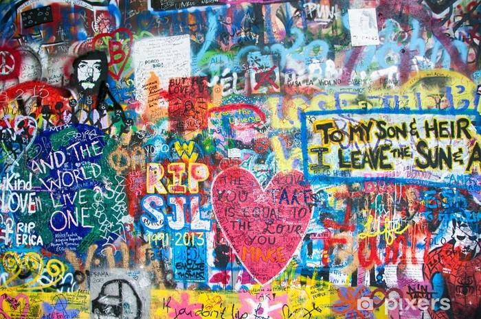 Fototapeta winylowa Kolorowe John Lennon ściana w Pradze - Tematy