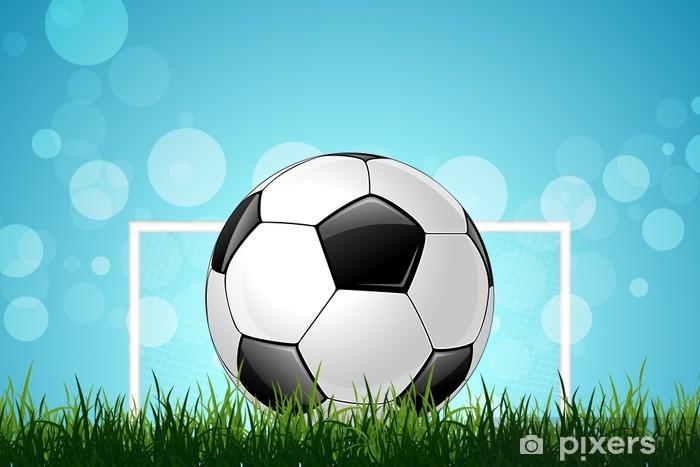 Fotomural Balón de fútbol en la hierba verde • Pixers® - Vivimos ... 0577bd5ff5f14