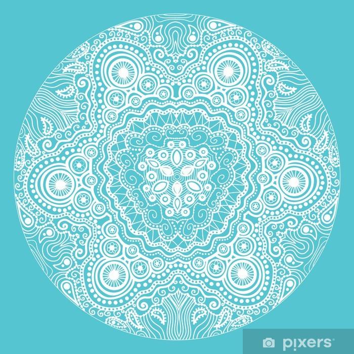 Plakat Ozdobne koronki okrągły wzór, koło tle wielu detai - Tła