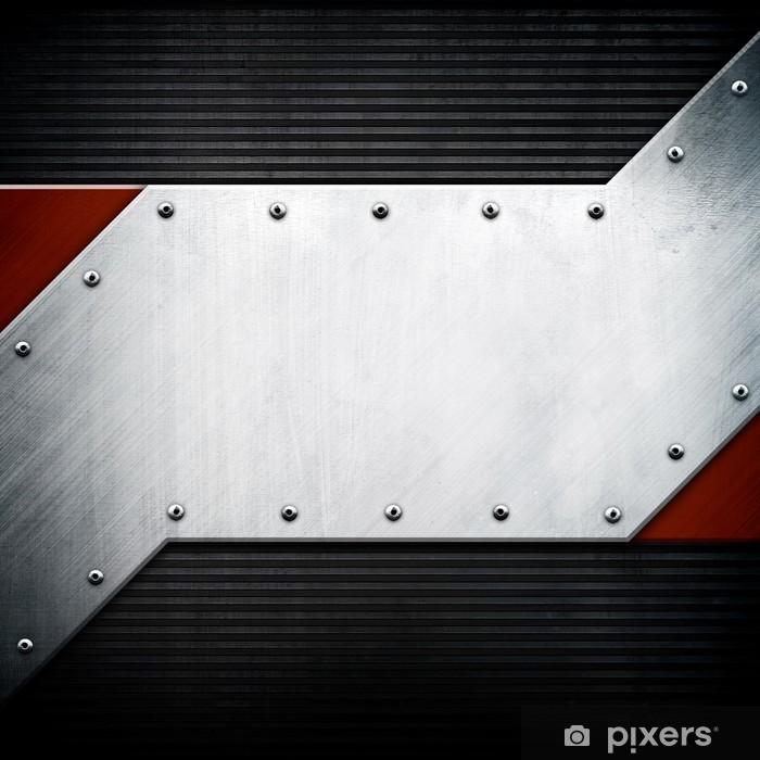 Plakát Kovové šablony pozadí - Struktury