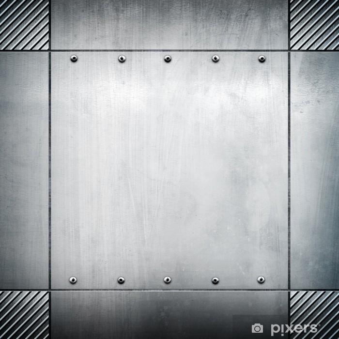 Papier peint vinyle Gabarit métallique - Matières premières