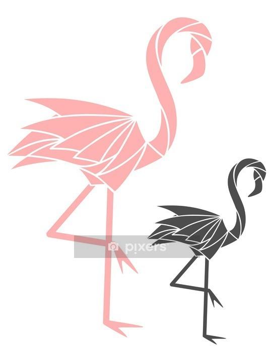 Muursticker Flamingo - Wetenschap en natuur